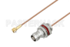 Snap-On MMBX Plug Right Angle to TNC Female Bulkhead Cable 18 Inch Length Using RG178 Coax -- PE3C3996-18 -Image