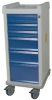MR-Conditional Narrow Six Drawer Anesthesia Cart Key Lo.. -- MRN6K -- View Larger Image