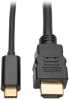 USB C to HDMI Adapter Cable (M/M), Thunderbolt™ 3 Compatible,3840 x 2160 (4K x 2K) @ 30 Hz, 6 ft. -- U444-006-H