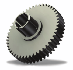 Spur gear with split hub