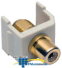 Hubbell Snap-Fit Coaxial RCA to F-Type Gold Pass-Through,.. -- SFRFGAL