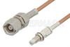 SMC Plug to SMC Jack Bulkhead Cable 12 Inch Length Using RG178 Coax -- PE33352-12 -Image