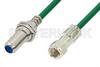 75 Ohm F Male to 75 Ohm F Female Bulkhead Cable 48 Inch Length Using 75 Ohm PE-B159-GR Green Coax -- PE38138/GR-48 -Image