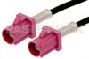 Violet FAKRA Plug to FAKRA Plug Cable 36 Inch Length Using PE-C100-LSZH Coax -- PE38747H-36 -Image