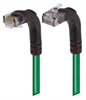 Category 6 Right Angle Patch Cable, Right Angle Up/Right Angle Down - Green 1.0 ft -- TRD695RA4GR-1 -Image
