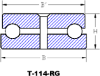 T-114-RG: Open Style Thrust Bearing With Center Rivet -- T-114-RG-1007
