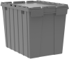 Container, Attached Lid Container 17 gal, Gray -- 39170