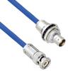 Plenum Free Cable Assembly TRB 3-Slot Plug to Insulated Bulk Head 3-Lug Cable Jack MIL-STD-1553 .242