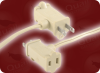 PIGGYBACK NEMA 1-15P POLARIZED BEIGE to IEC-60320-C7 BEIGE HOME • Power Cords • North American Power Cords • 2 Conductor Power Cords -- 1058.079 -Image