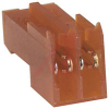 Connector; Closed End; 2; Nylon; CopperAlloy; Tin-Lead; 0.100 in.; 22 AWG; Red -- 70042737