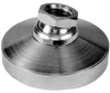 Zinc Plated Leveling Pad: 1/2-13 Thread -- 44432 - Image