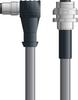 LAPP UNITRONIC® Devicenet™ Thin Panel Mount Extension Cordset - 5 positions male M12 90° to 5 positions female M12 bulkhead - Continuous Flex - Gray PVC - 2m -- OLFDN4110038F02 -Image