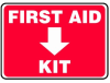 First Aid Kit Sign -- SGN1020