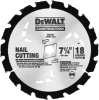 "Series 20 7-1/4"" 18T Nail Cutting Circular Saw Blade -- DW3191"