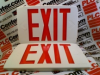 EXIT SIGN W/EXTRA FACEPLATE RED 120V OR 277V -- LQMSW3R120277