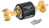 WR-15 Waveguide Isolator with 25 dB min Isolation from 50 GHz to 75 GHz using Round Cover UG-385/U Flange -- FMWIR1002 - Image