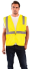 Occunomix Value ECO-IMZ Yellow Large Polyester Mesh Standard Vest - Fits 40 in Chest - 021844-61132 -- 021844-61132