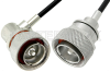 7/16 DIN Male to 7/16 DIN Male Right Angle Cable 48 Inch Length Using PE-C240 Coax -- PE37957-48 -Image