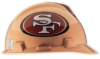 MSA Safety Works 818440 NFL Hard Hat, San Francisco 49ers