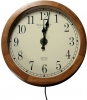Hard Wired Wooden Wall Clock Camera