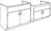 Standard Steel Laboratory Cabinet, Sink Cabinet -- 20S Series