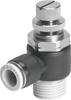GRLA-10-32-UNF-QB-1/8-U One-way flow control valve -- 564839