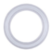 Sanitary Gasket, Flanged, Platinum-cured Silicone, 1