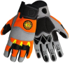 Global Glove Hot Rod HR5008 Hi-Vis Orange/Gray 2XL Spandex Mechanic's Gloves - HR5008 2XL -- HR5008 2XL