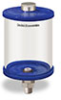 """Blue Color Key, Clear View Oil Reservoir, 1 qt Acrylic, 3/8"""" NPT, Pipe Mount -- B5166-032AB3BW -- View Larger Image"""