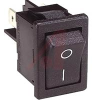SWITCH,ROCKER, MINIATURE;SPST;ON-OFF,10A,250VAC;0.187 IN. QC;ACTUATOR,BLACK -- 70065602 - Image