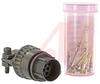 connector,metal circular,str plug w/cable clamp,size 12,10 #20 crimp pin contact -- 70143477