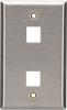2-Port Single-Gang Keystone Stainless Steel Wallplate -- WP371 - Image