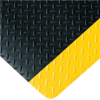 3ft x 12ft Black/Yellow Diamond Plate Anti Fatigue Mat -- MAT288BY