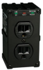 Direct Plug-In Isobar Surge Protector with 2 Outlets and Black All-Metal Housing -- ULTRABLOK