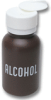Non-ESD Brown Alcohol Bottle -- 35601