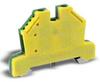 Grounding Terminal Block: 24-10 AWG, green/yellow, 10/pk -- DN-G10-10