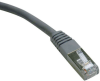 Cat5e 350MHz Molded Shielded Patch Cable STP (RJ45 M/M) - Gray, 100-ft. -- N105-100-GY