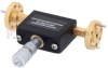 WR-12 Waveguide Continuously Variable Attenuator With Dial 0 to 30 dB Operating from 60 GHz to 90 GHz, UG-387/U Round Cover Flange -- SMW12AT001-30 - Image