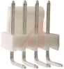 .100 IN RT ANGLE HEADER; 4 CIRCUITS (WHITE) -- 70190688 - Image