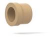 Super Flangeless™ Ferrule PEEK w/SST Ring, 1/4-28 Flat-Bottom, for 1/8
