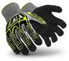 Hexarmor Rig Lizard 2090 Black/Gray/Yellow 10 Polyethylene/Glass Fiber Cut-Resistant Glove - ANSI/ISEA Cut 4, CE Cut 5 Cut Resistance - IR-X Impact Exoskeleton Coating - 2090 SZ 10 -- 2090 SZ 10
