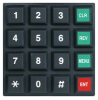 SWITCH KEYPAD 4X4 10mA 24V POLYCARBONATE -- 94F1304 - Image