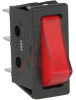 Switch, Rocker, Unprinted, Thin, Lighted, Red, SPST -- 70207339