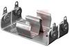 Battery Holder; AA; 0.531/0.565 in. O.D; Aluminum; Screw Mount; 2; Eyelet -- 70182566