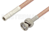 SMB Plug to BNC Male Cable 60 Inch Length Using PE-P195 Coax -- PE37250-60 -Image