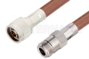 N Male to N Female Cable 72 Inch Length Using RG393 Coax, RoHS -- PE3977LF-72 -Image