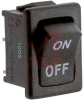 Switch, Rocker, Economical, Miniature, SPST, ON/OFF, BLACK, ON/OFF PRINTED -- 70207343 - Image