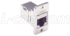 Cat6 RJ45 Coupler Shielded (8x8) Panel Mount Style -- ECF504-SC6