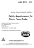 Safety Requirements for Power Press Brakes - Electronic Copy -- ANSI B11.3-2012