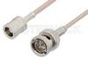 75 Ohm SMB Plug to 75 Ohm BNC Male Cable 36 Inch Length Using 75 Ohm RG179 Coax -- PE33247-36 -Image